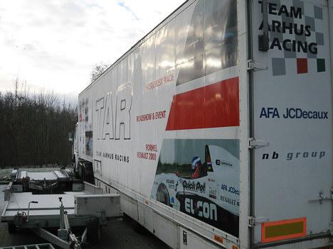 Auto Racing Trailers on Motorsporten Dk   Job   Handel   S  Lges   Lastbil Med Trailer